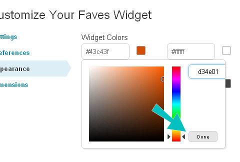 widget görünümü tamamlandı