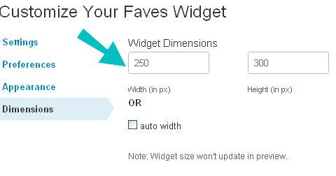 widget boyutları