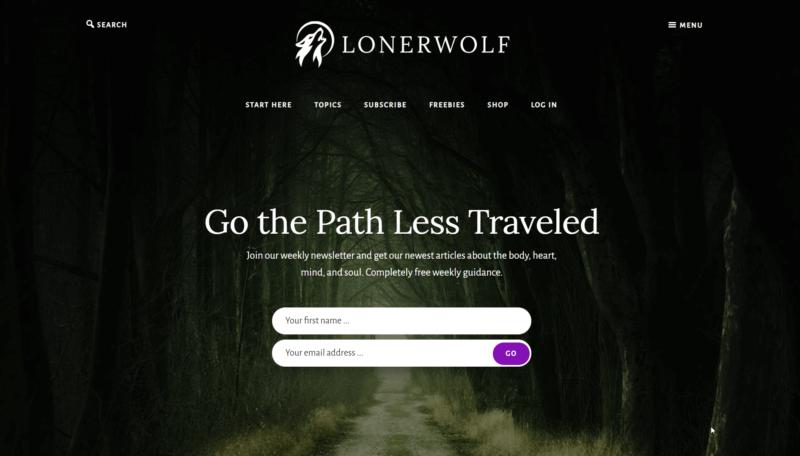 Página de inicio de LonerWolf