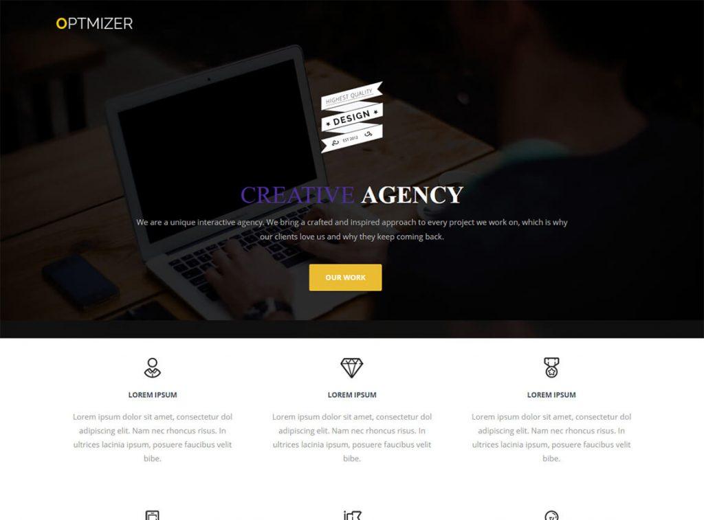 optimizador-libre-una-página-tema-wordpress