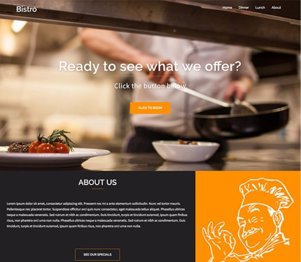 "bistro-restaurant-wordpress-theme ""width ="" 720 ""height ="" 628 ""srcset ="" https://themegrill.com/blog/wp-content/uploads/2016/05/bistro-restaurant-wordpress-theme-1024x893 .jpg 1024w, https://themegrill.com/blog/wp-content/uploads/2016/05/bistro-restaurant-wordpress-theme-300x262.jpg 300w, https://themegrill.com/blog/wp-content /uploads/2016/05/bistro-restaurant-wordpress-theme-768x670.jpg 768w, https://themegrill.com/blog/wp-content/uploads/2016/05/bistro-restaurant-wordpress-theme.jpg 1140w ""tamaños ="" (ancho máximo: 720px) 100vw, 720px ""><strong>Pequeño restaurante</strong> es el tema hijo de <a href="