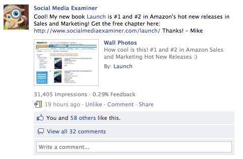 capturas de pantalla de facebook