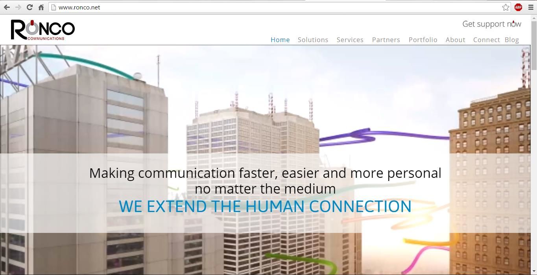 Página de Ronco Communications