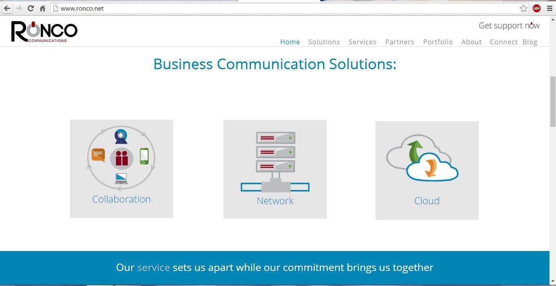 Soluciones de comunicación empresarial de Ronco