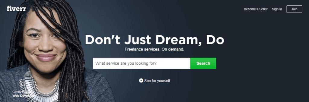 Los mejores sitios web de trabajo independientes Fiverr