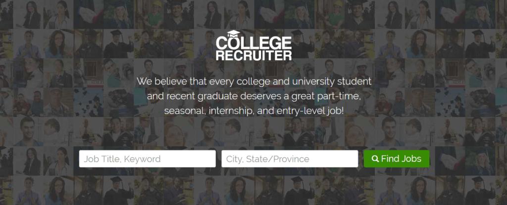 Los mejores sitios web de empleo independientes College Recruiter