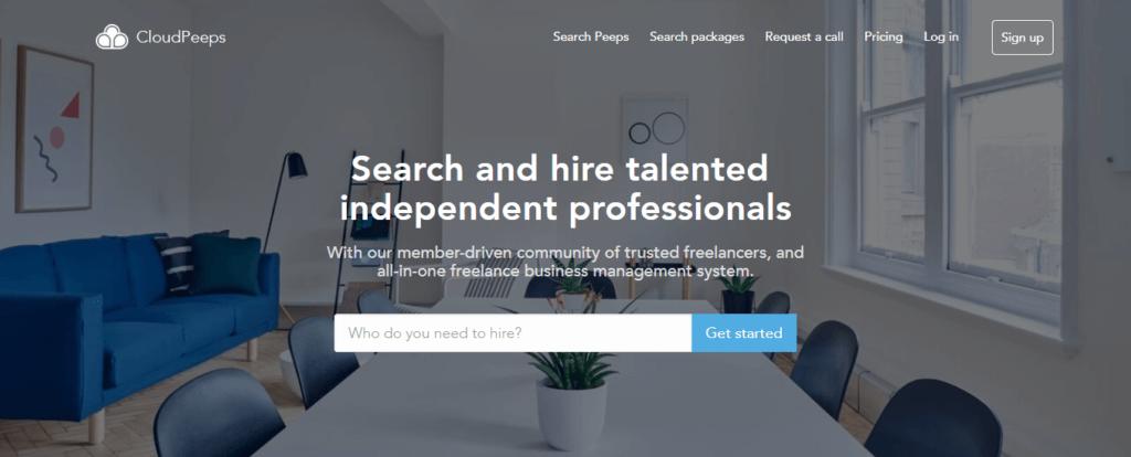 Los mejores sitios web de trabajo independientes de CloudPeeps