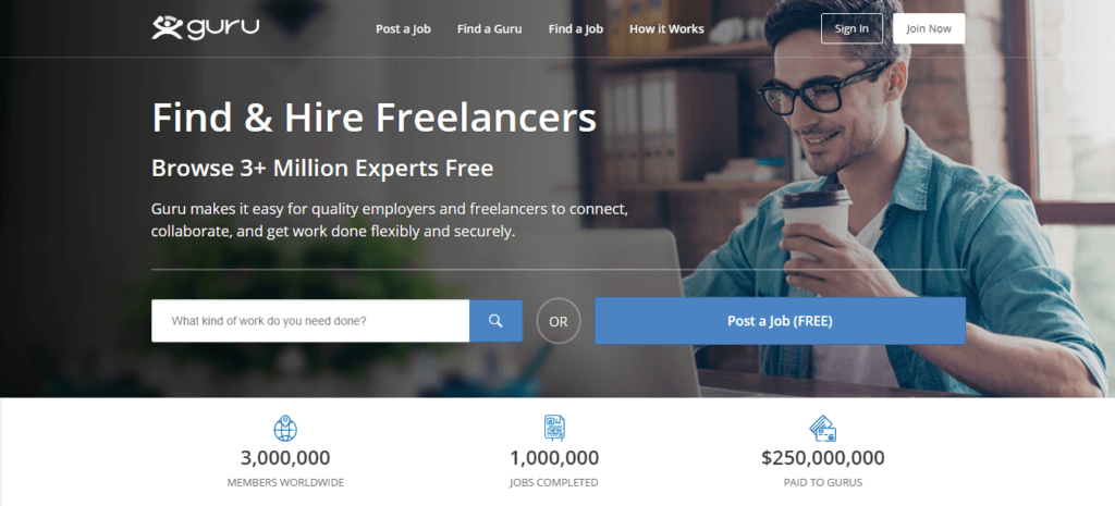 Los mejores sitios web de trabajo independientes Guru