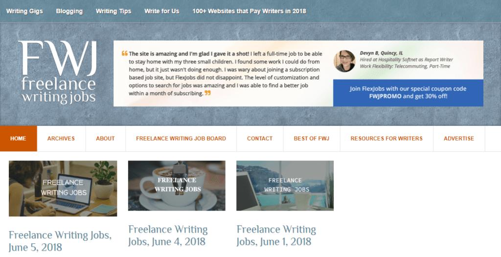 Los mejores sitios web de trabajo independientes Trabajos de escritura independientes