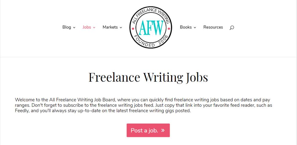 Mejores sitios web de trabajo independientes Todos los escritores independientes
