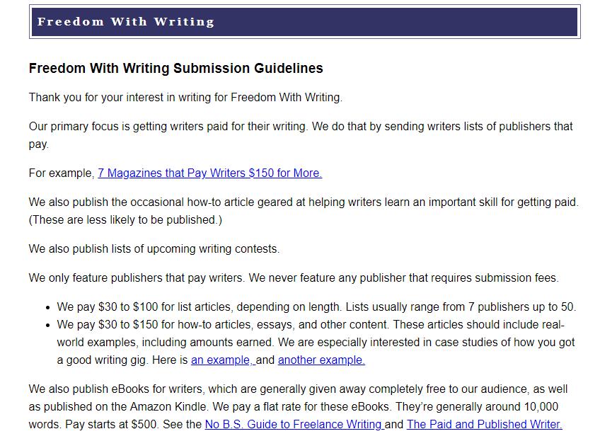 Los mejores sitios web de trabajo independientes Libertad con escritura