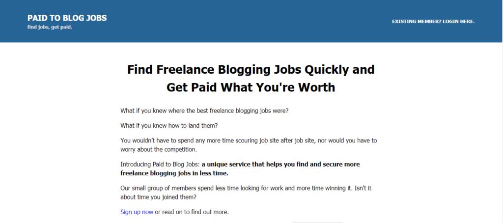 Los mejores sitios web de trabajo independientes pagados al blog