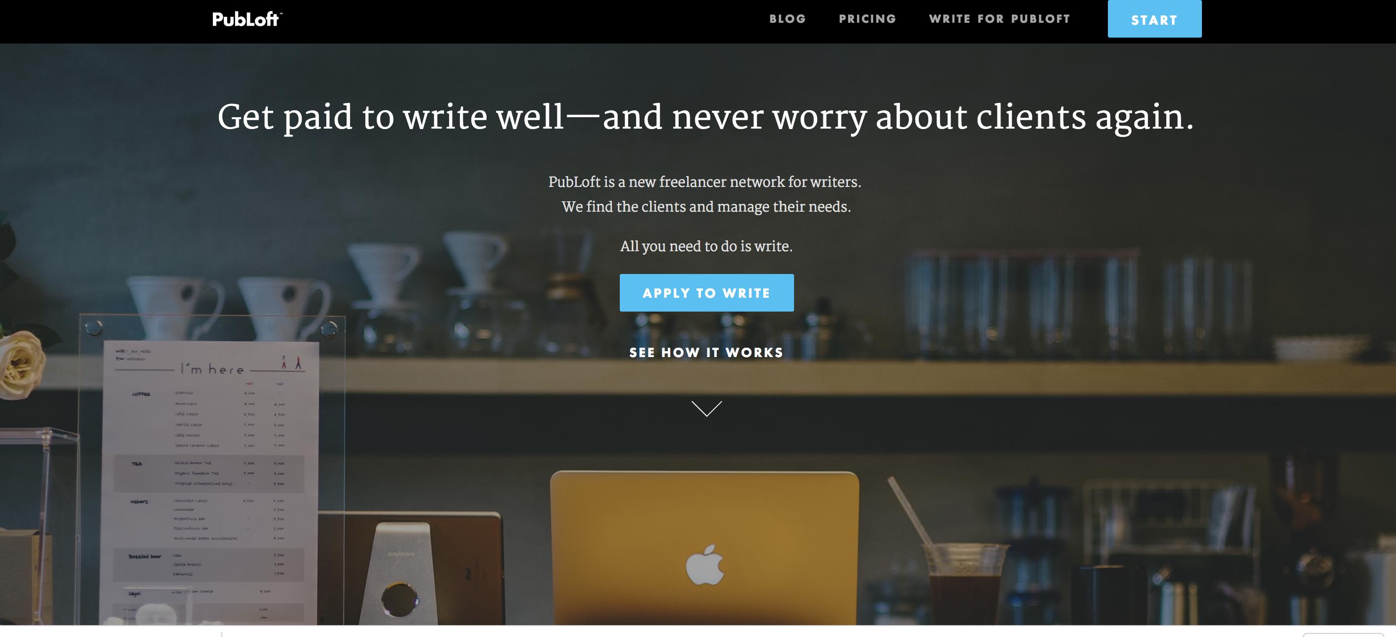 Los mejores sitios web de trabajos independientes PubLoft para escritores