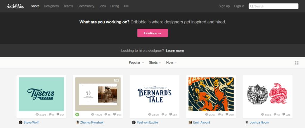 Los mejores sitios web de trabajo independientes Dribbble