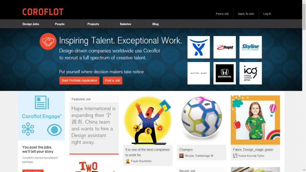 Los mejores sitios web de trabajo independientes Coroflot