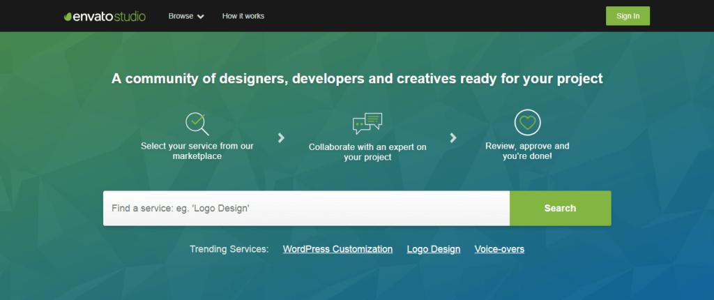 Los mejores sitios web de trabajo independientes Envato Studio