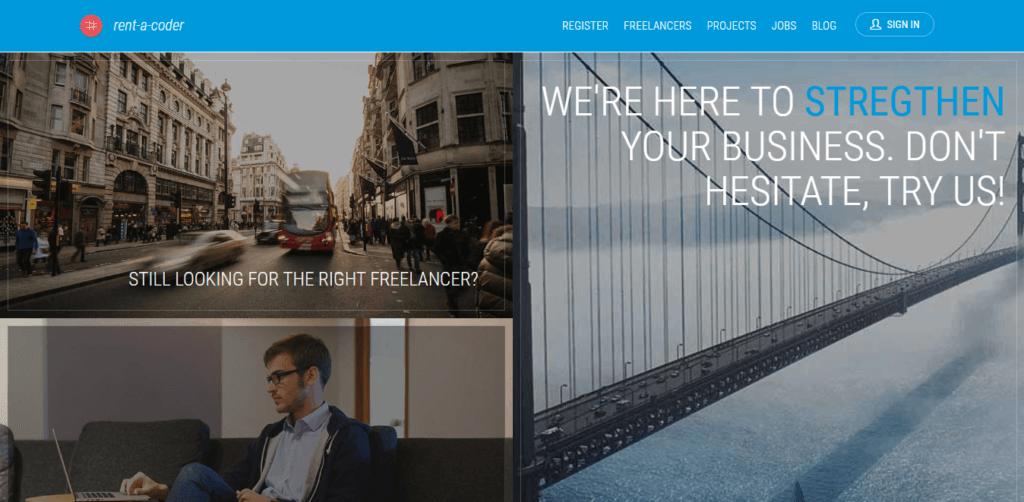 Los mejores sitios web independientes de empleo Rent a Coder
