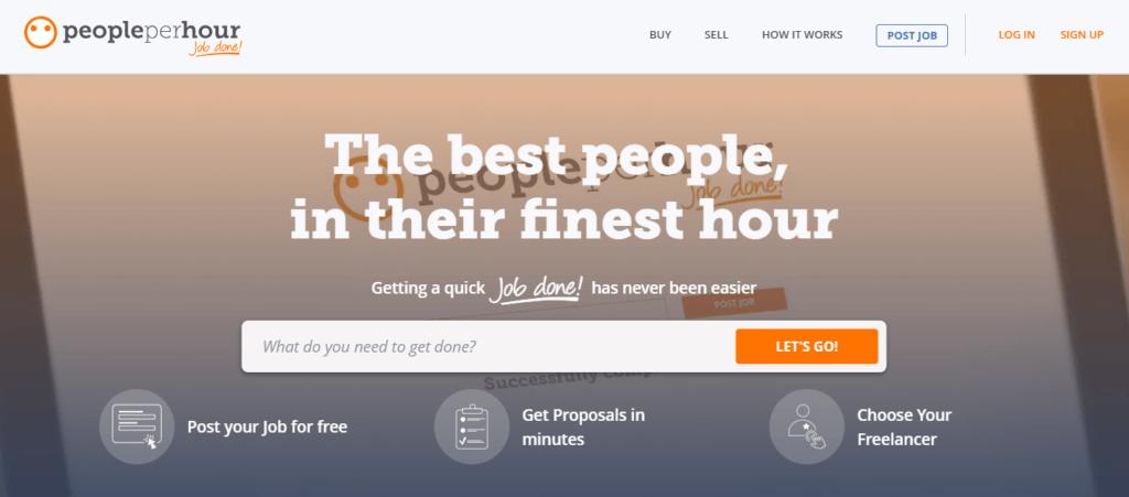 Mejores sitios web de trabajo independientes Personas por hora
