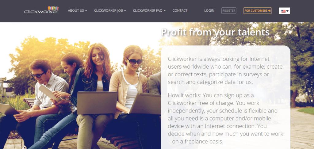 Mejores sitios web de trabajo independientes ClickWorker