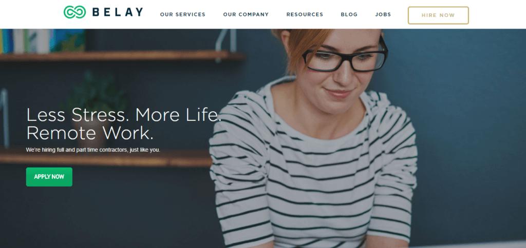 Los mejores sitios web de trabajo independientes Belay