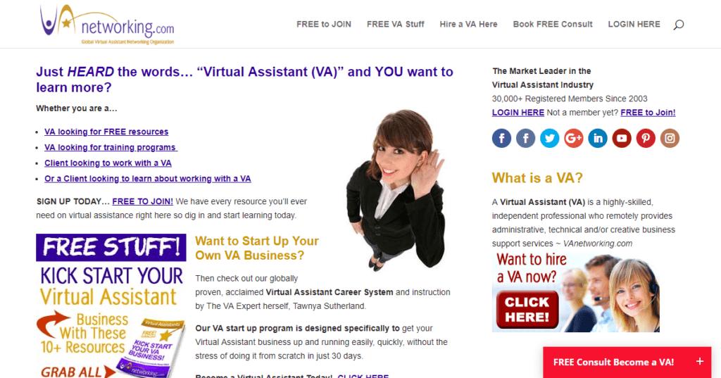 Los mejores sitios web de trabajo independientes Redes de VA
