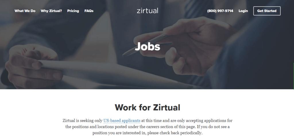 Los mejores sitios web de trabajo independientes Zirtual