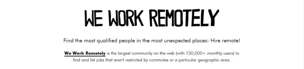 Best Freelance Job Websites We Work Remotely