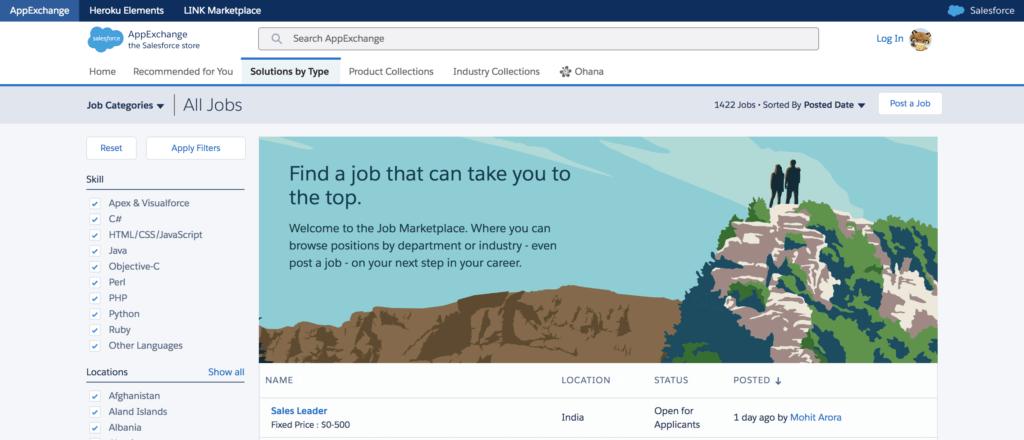 Best Freelance Jobs Websites Salesforce App Exchange