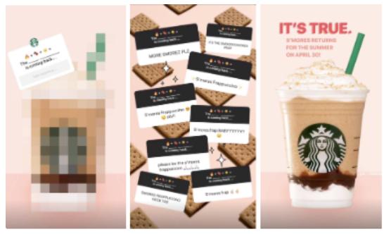 Historia de instagram de Starbucks intersactive