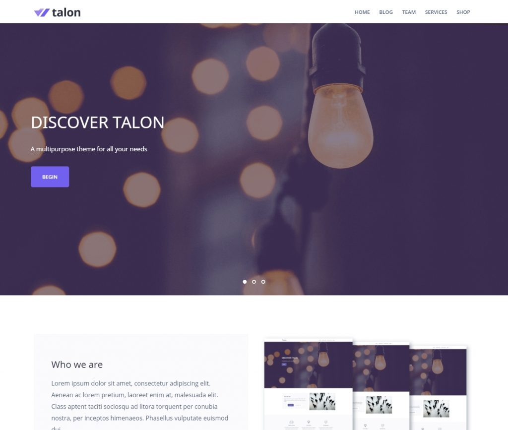 talon-free-responsive-wordpress-themes