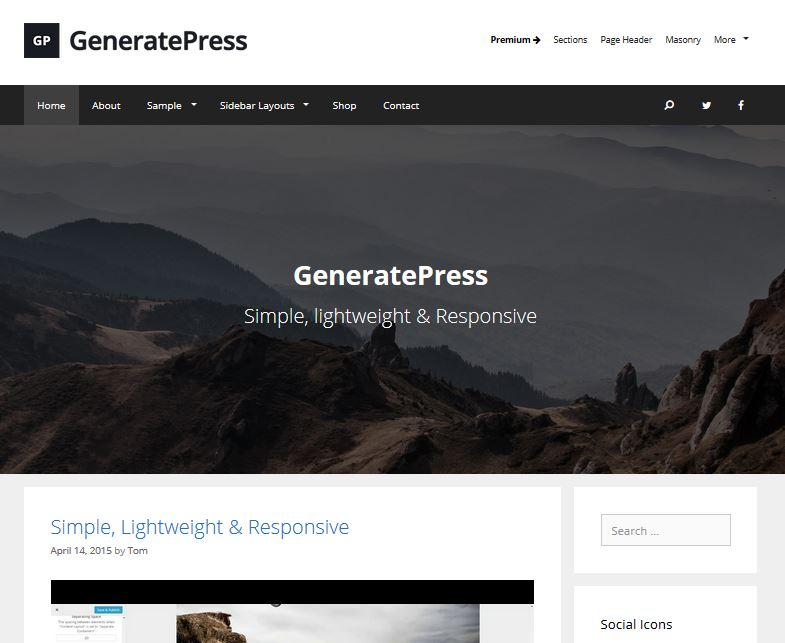 temas de wordpress receptivos gratuitos generarpress