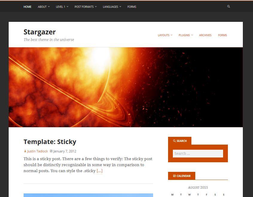 temas de wordpress receptivos gratuitos stargazer