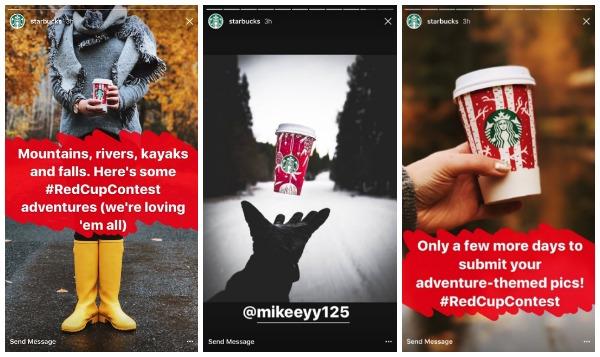historias de instagram de starbucks