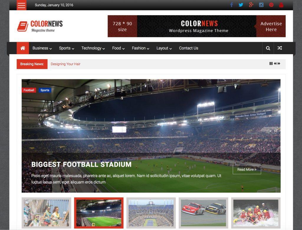 colornews - temas de wordpress para revistas gratuitas y receptivas
