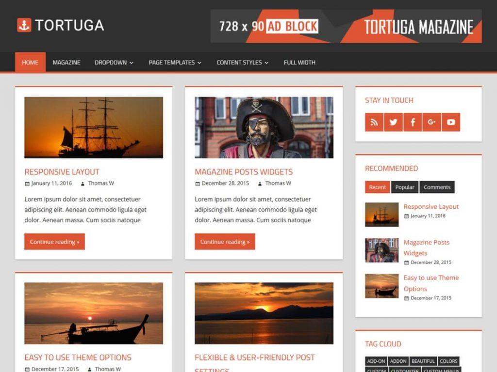 Tortuga- tema gratuito de la revista wordpress