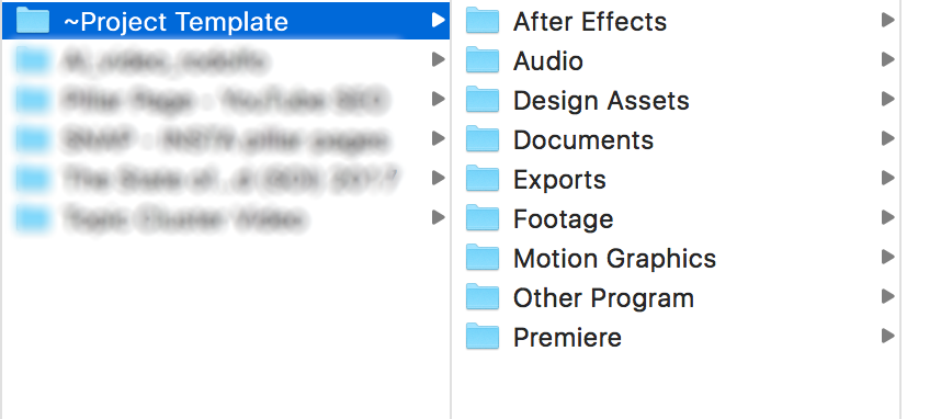 video organizing footage
