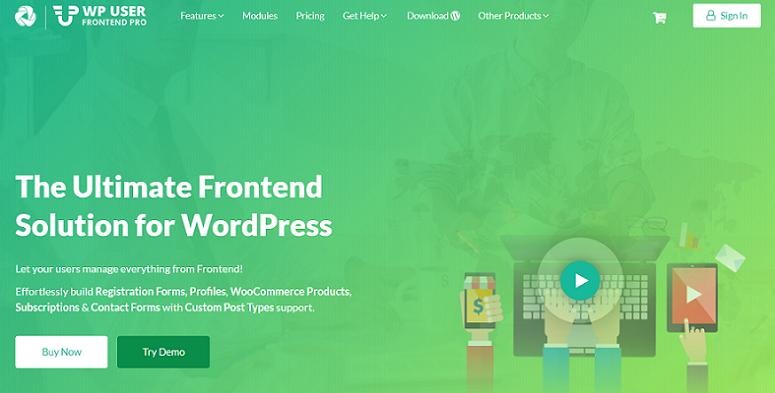 WP User Front end Pro, complemento de contenido generado por el usuario