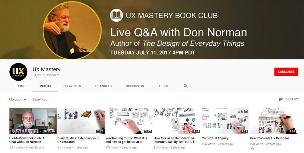 Canal de YouTube UXMastery
