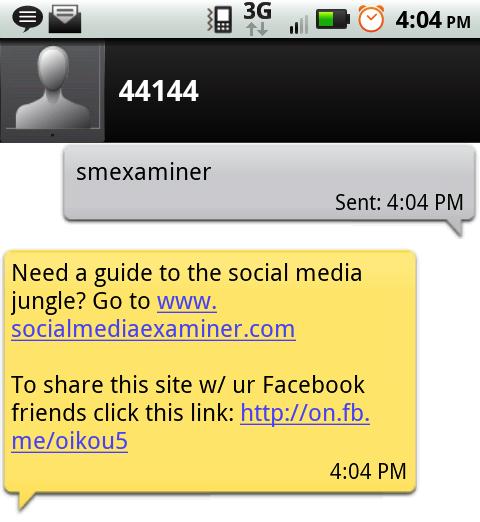 Link ilə SMS