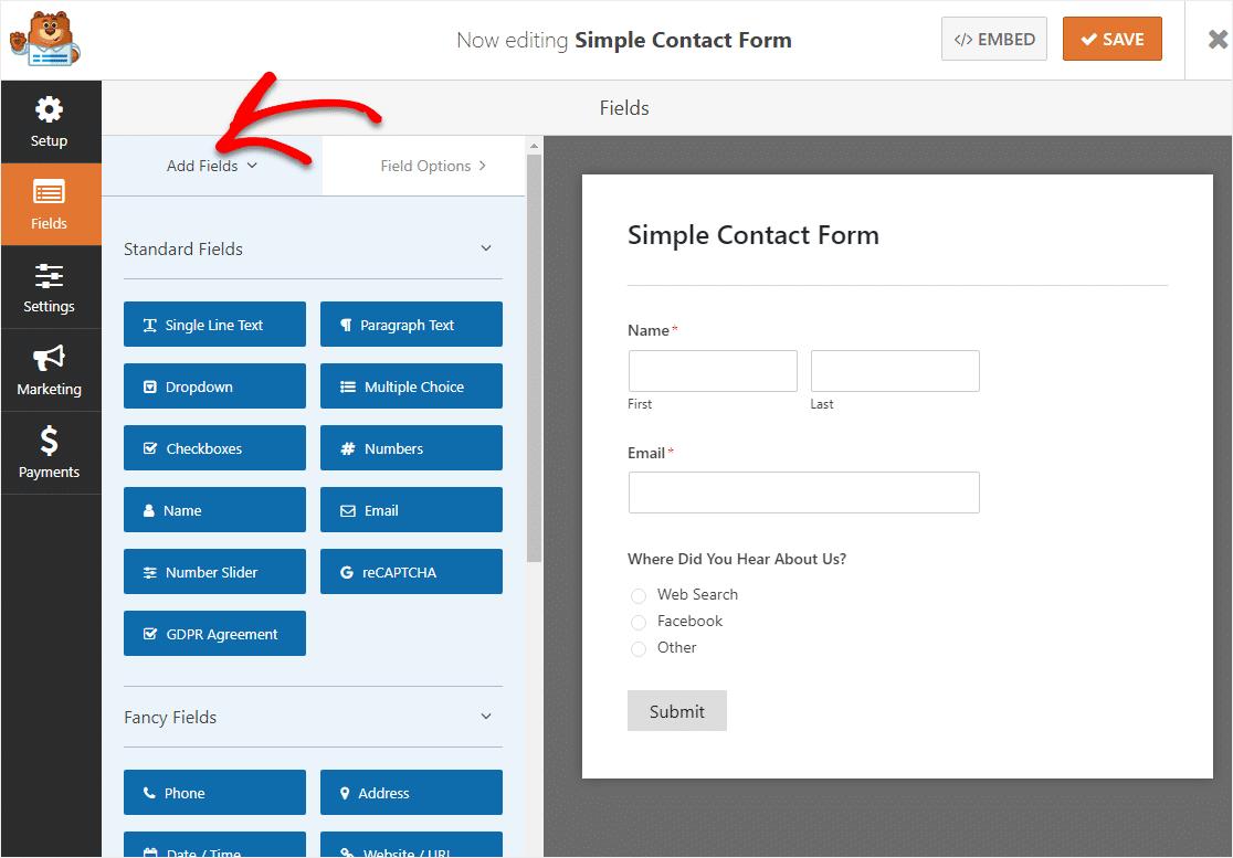 agregue un campo de texto de una sola línea a su formulario de lógica condicional