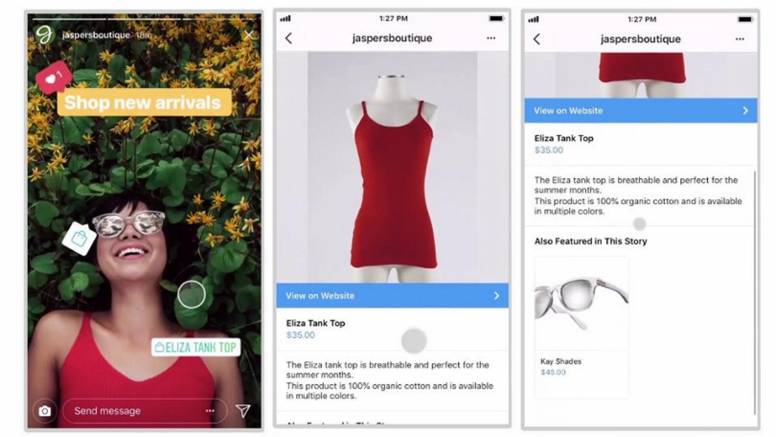 venta de comercio electrónico de instagram
