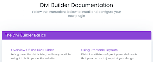14 Documentación de Divi Builder