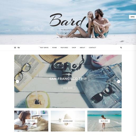 Tema gratuito de WordPress Slider - Bard