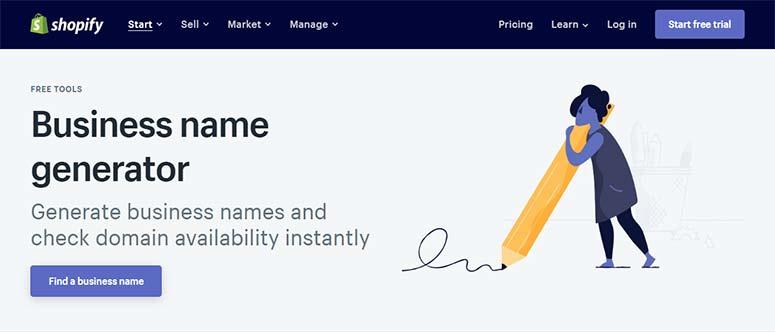 Generador de nombres comerciales de Shopify