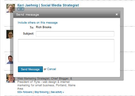 mensaje personal del grupo linkedin