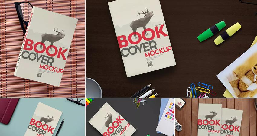 Maquetas de libros personalizables Photoshop PSD