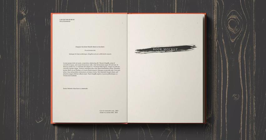 Plantillas fotorrealistas de maquetas de libros Photoshop PSD