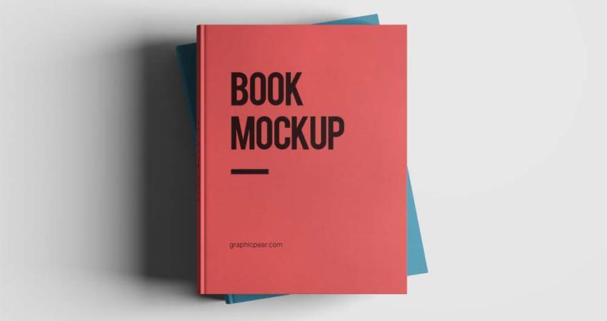 Maqueta de libro de alta resolución gratuita Photoshop PSD
