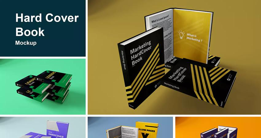 Hard Book Mockup Photoshop PSD