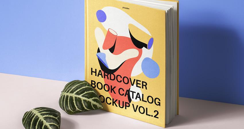 PSD gratuito Libro de tapa dura Catálogo Maqueta Photoshop PSD